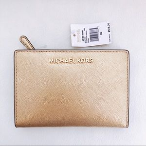 NWT Gold Michael Koes Wallet